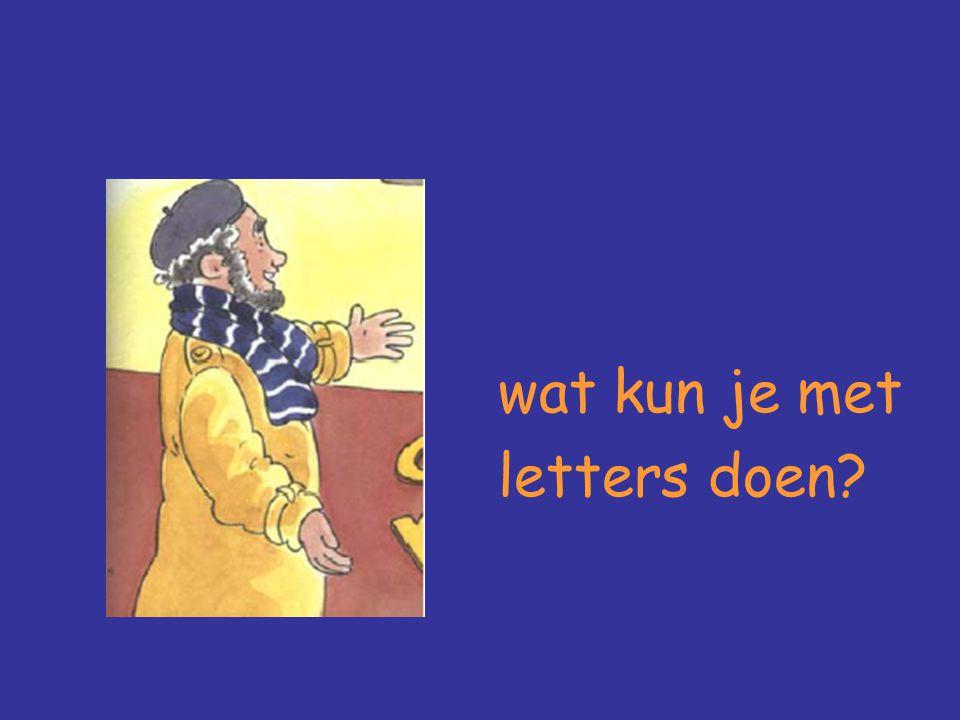 wat kun je met letters doen