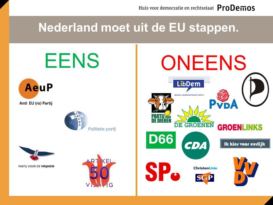 Nederland moet uit de EU stappen.