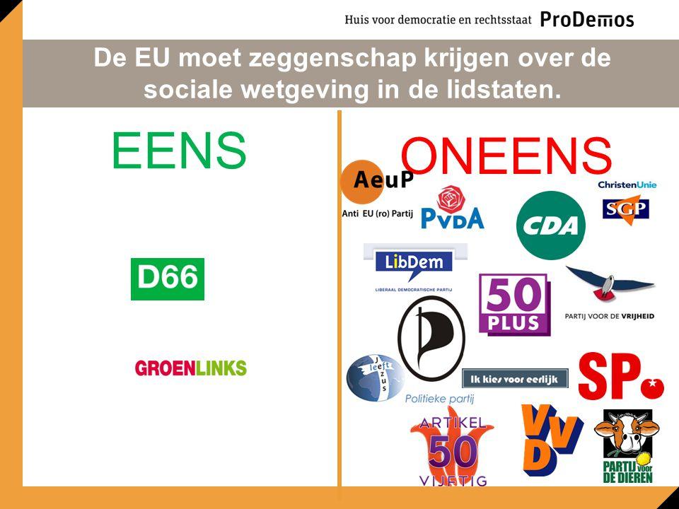 De EU moet zeggenschap krijgen over de sociale wetgeving in de lidstaten.