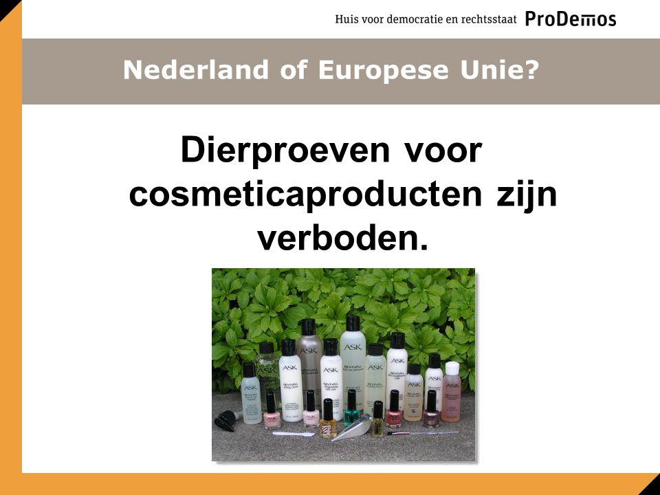 Dierproeven voor cosmeticaproducten zijn verboden.