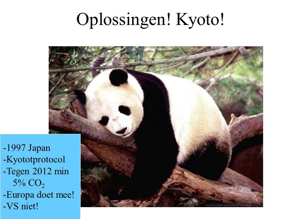 Oplossingen! Kyoto! 1997 Japan Kyototprotocol Tegen 2012 min 5% CO2