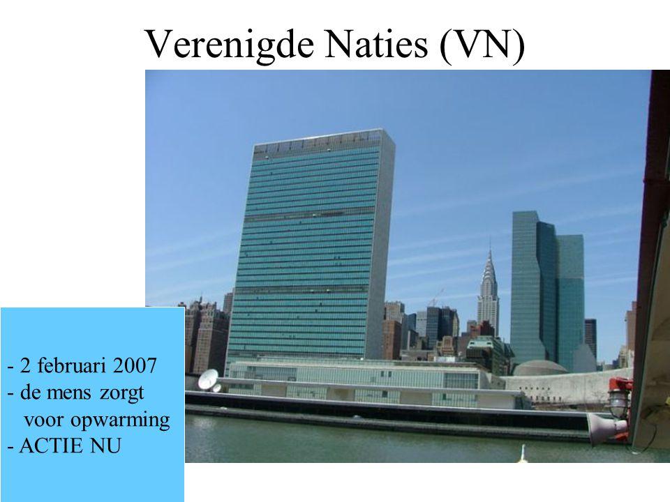 Verenigde Naties (VN) 2 februari 2007 de mens zorgt voor opwarming