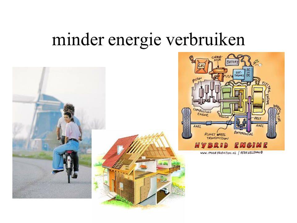minder energie verbruiken