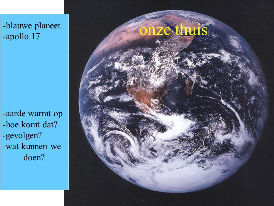 onze thuis blauwe planeet apollo 17 aarde warmt op hoe komt dat