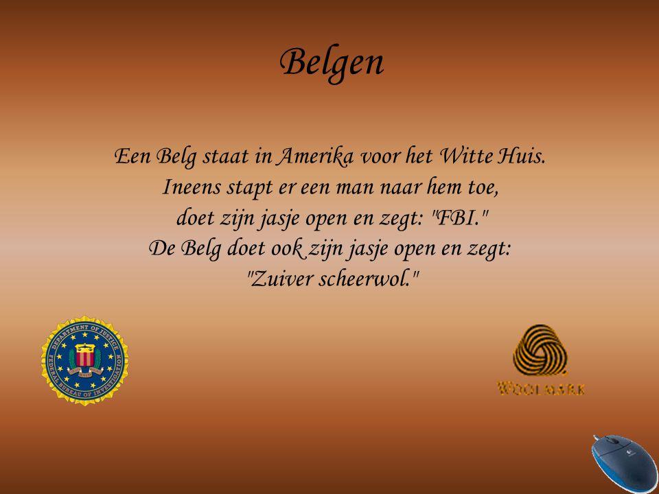 Belgen Een Belg staat in Amerika voor het Witte Huis