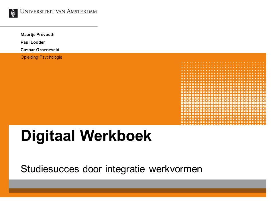 Studiesucces door integratie werkvormen
