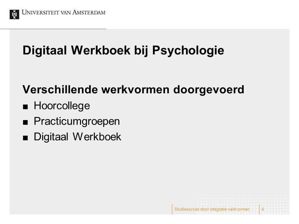 Digitaal Werkboek bij Psychologie