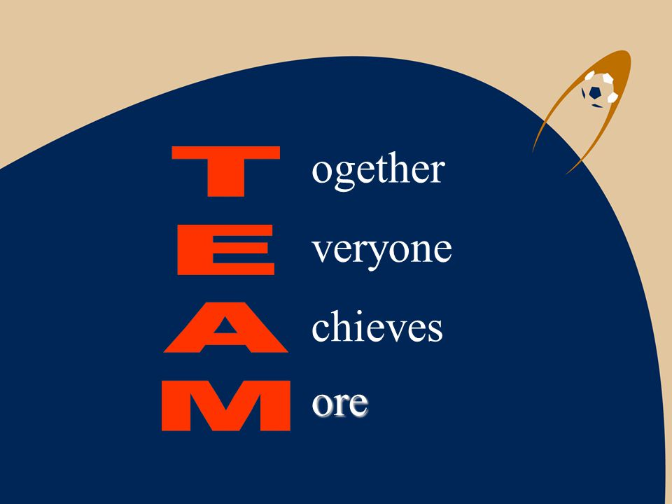 ogether veryone chieves ore