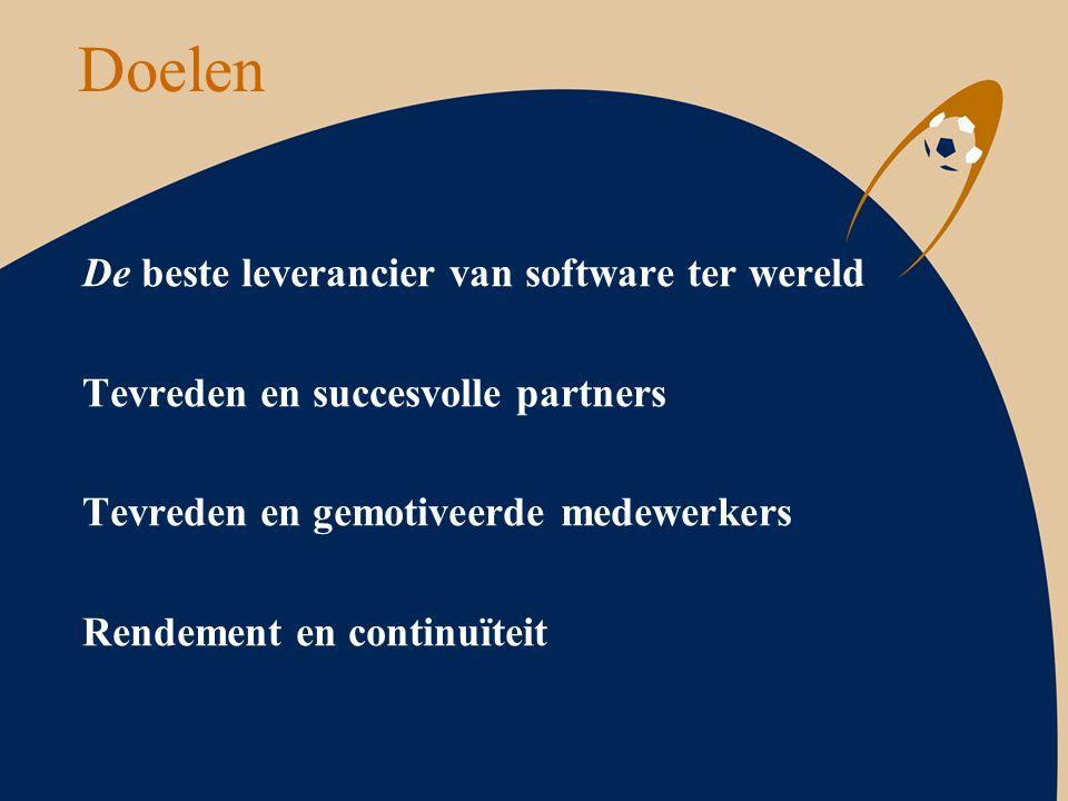 Doelen De beste leverancier van software ter wereld