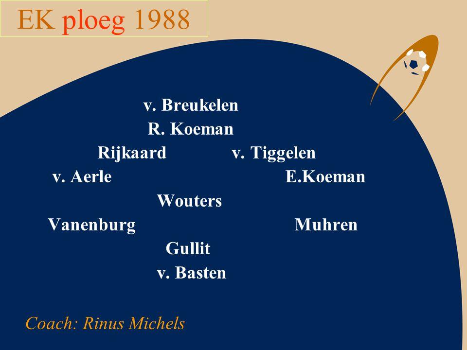 EK ploeg 1988 v. Breukelen R. Koeman Rijkaard v. Tiggelen