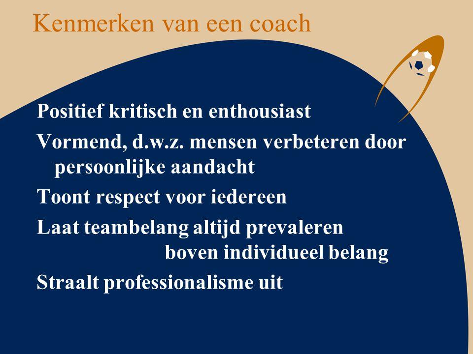Kenmerken van een coach