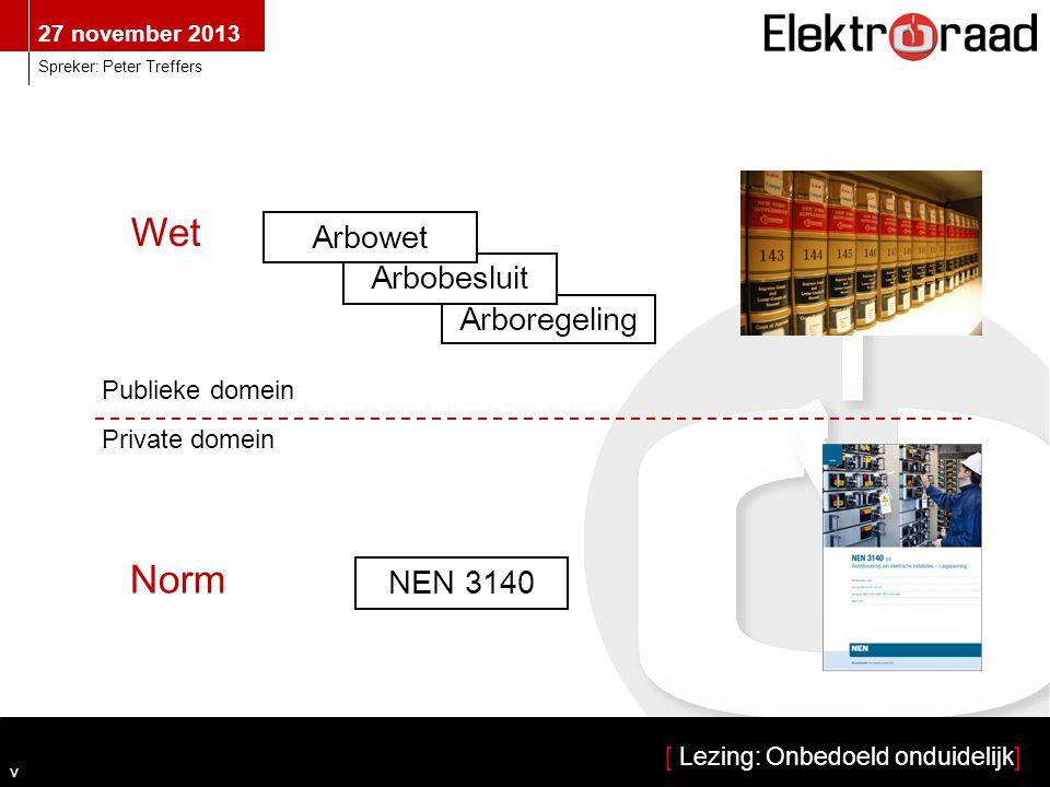 Wet Norm Arbowet Arbobesluit Arboregeling NEN 3140 Publieke domein