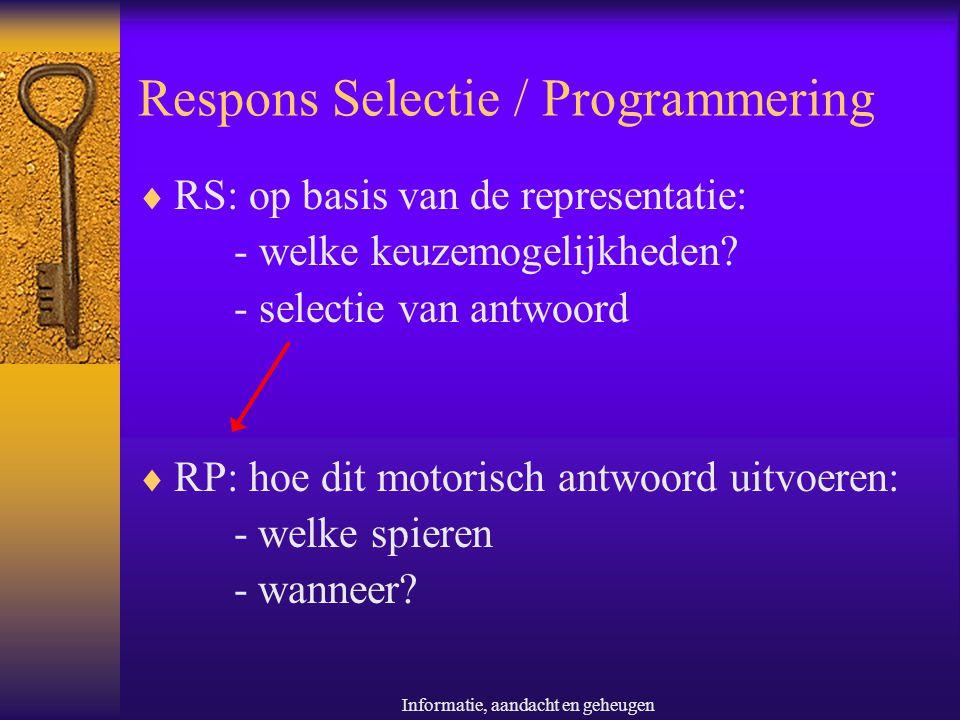 Respons Selectie / Programmering