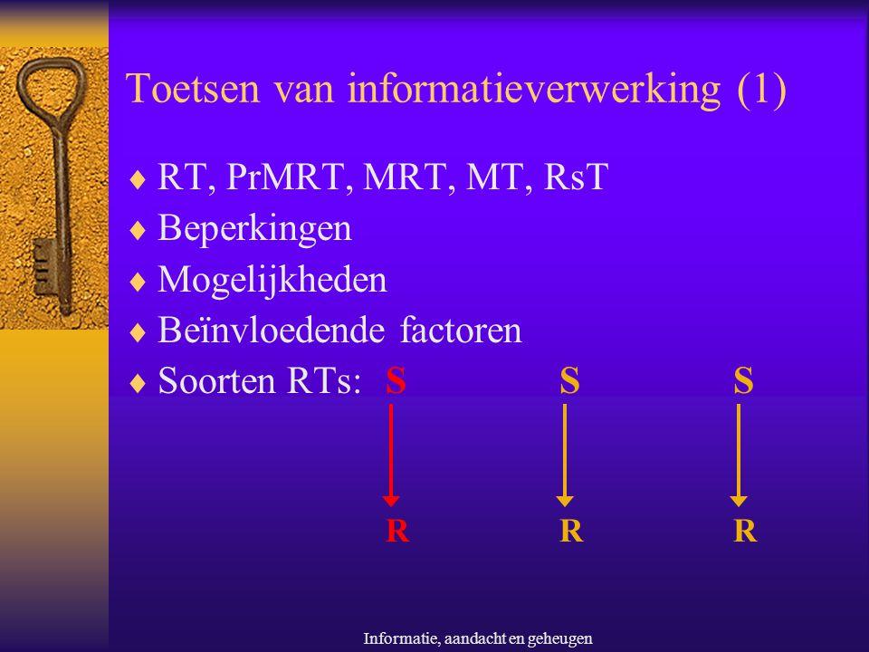 Toetsen van informatieverwerking (1)