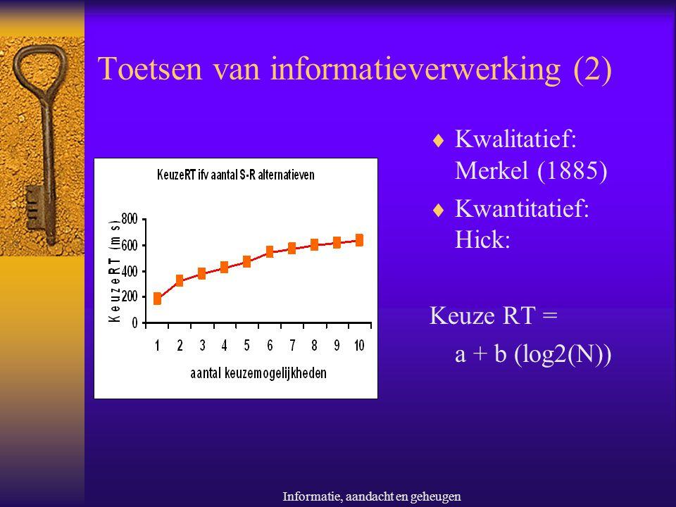 Toetsen van informatieverwerking (2)