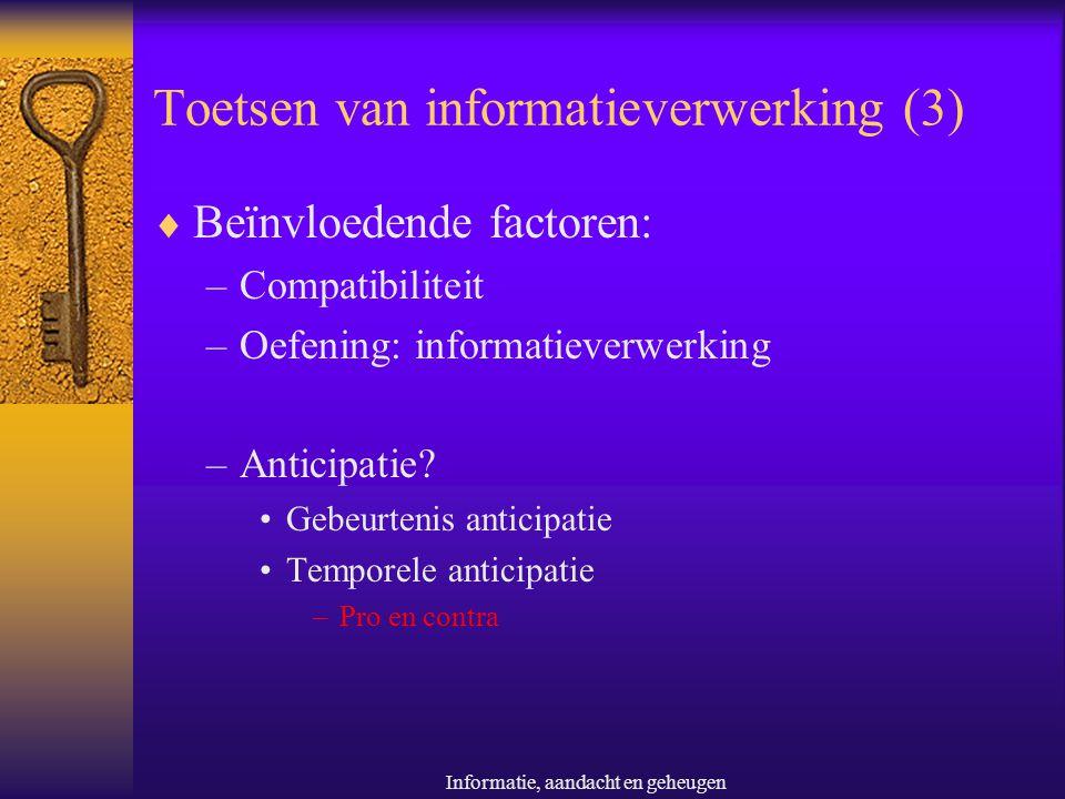 Toetsen van informatieverwerking (3)