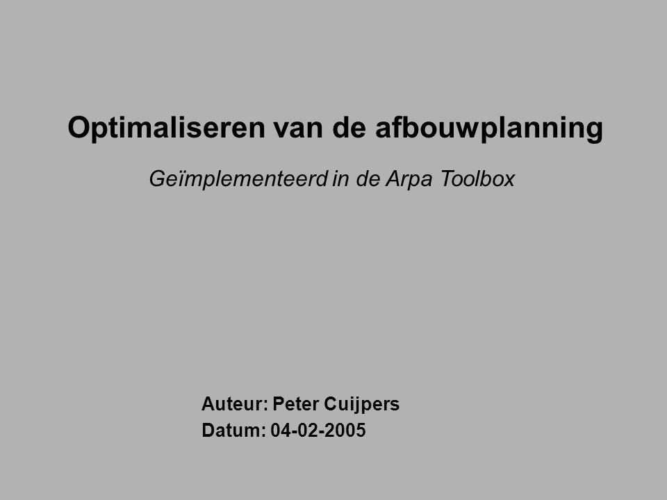 Optimaliseren van de afbouwplanning