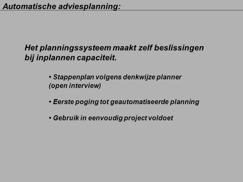 Automatische adviesplanning: