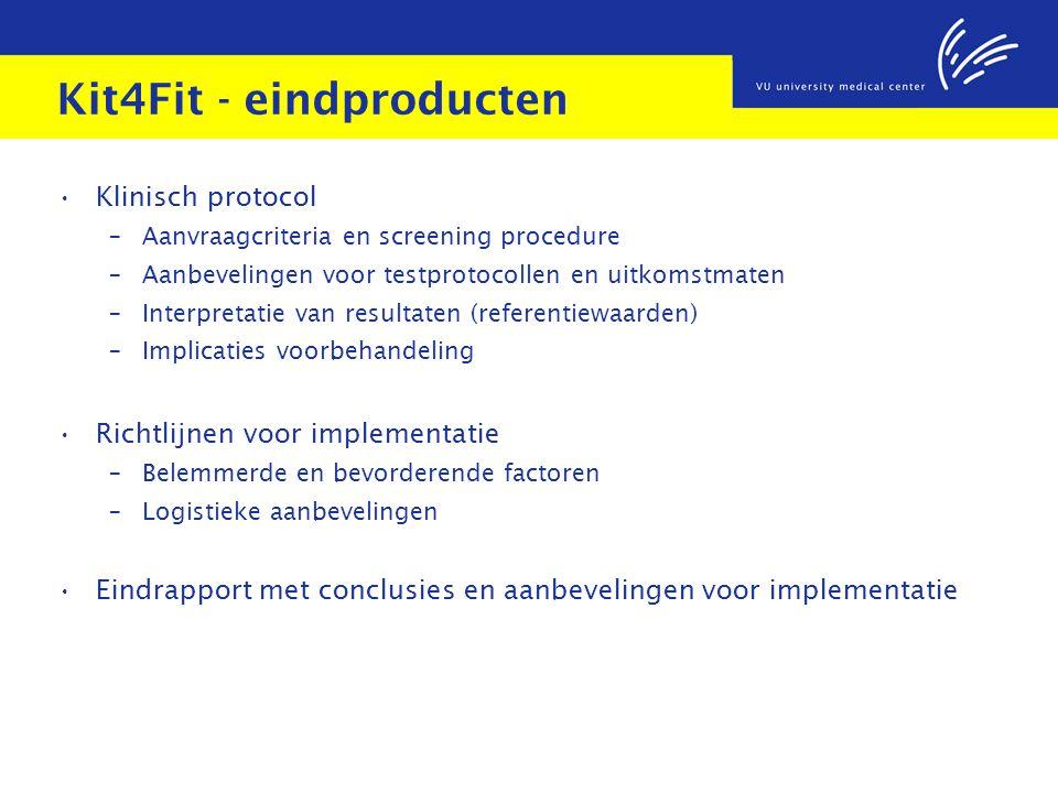 Kit4Fit - eindproducten