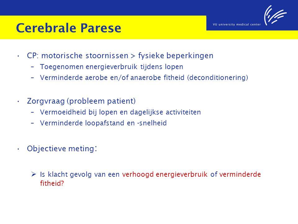 Cerebrale Parese CP: motorische stoornissen > fysieke beperkingen