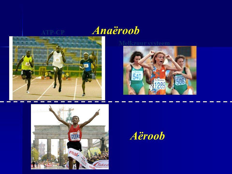 Anaëroob ATP-CP Melkzuur systeem Zuurstof systeem Aëroob