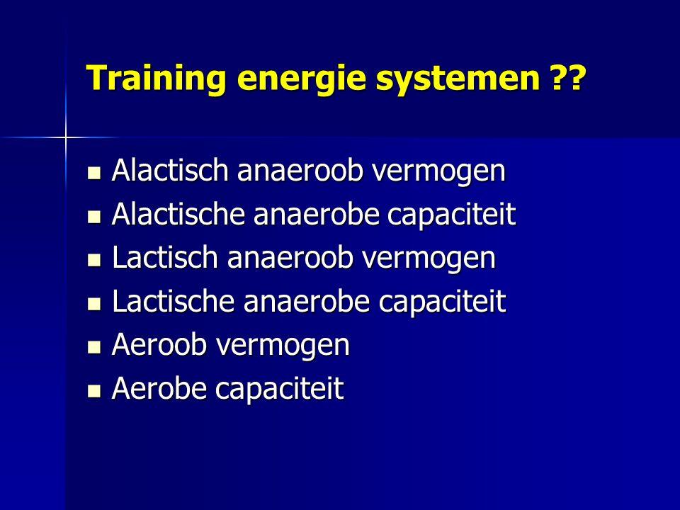 Training energie systemen