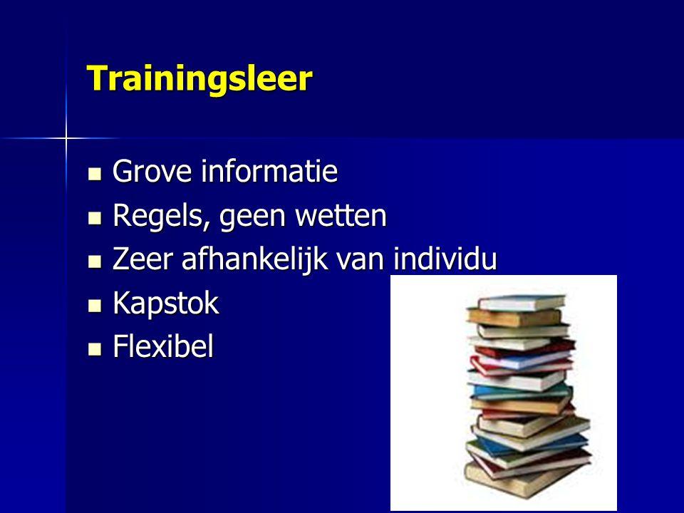Trainingsleer Grove informatie Regels, geen wetten