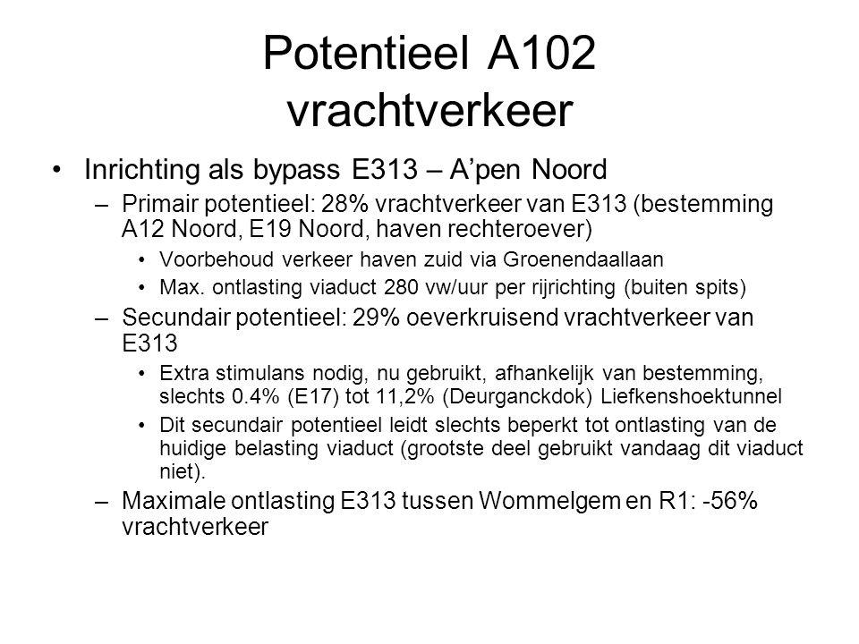 Potentieel A102 vrachtverkeer