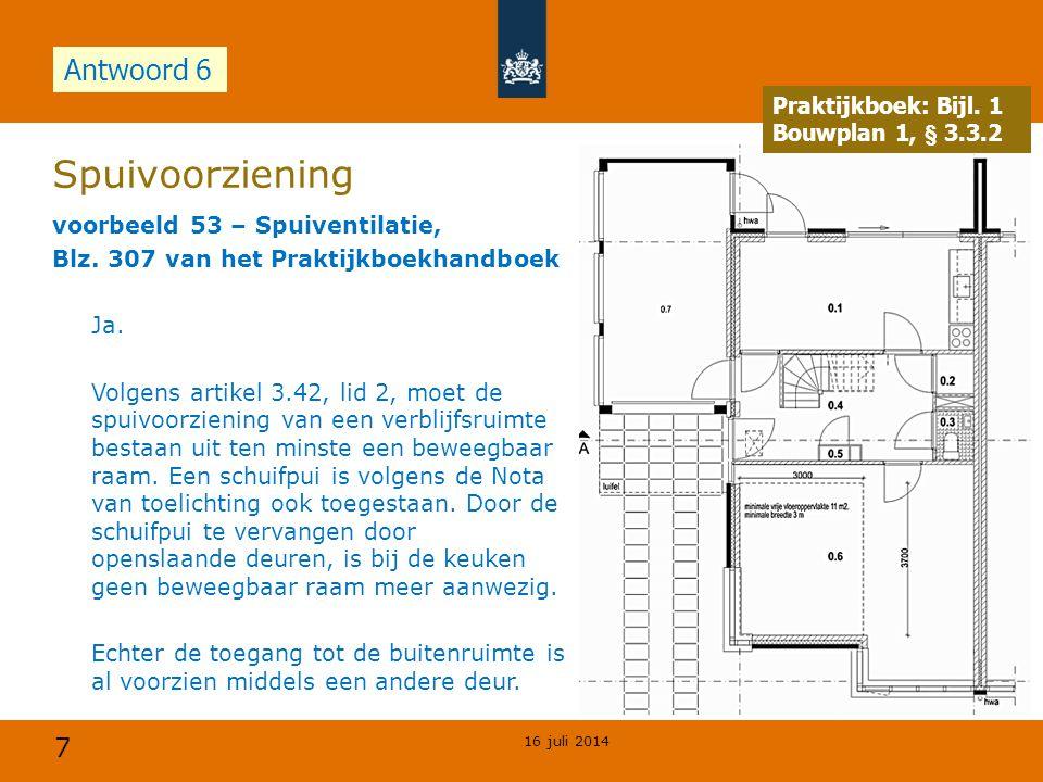 Spuivoorziening Antwoord 6 Opdracht Praktijkboek: Bijl. 1