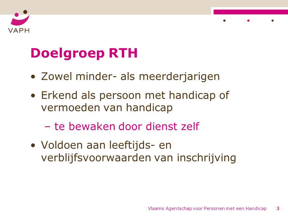 Doelgroep RTH Zowel minder- als meerderjarigen
