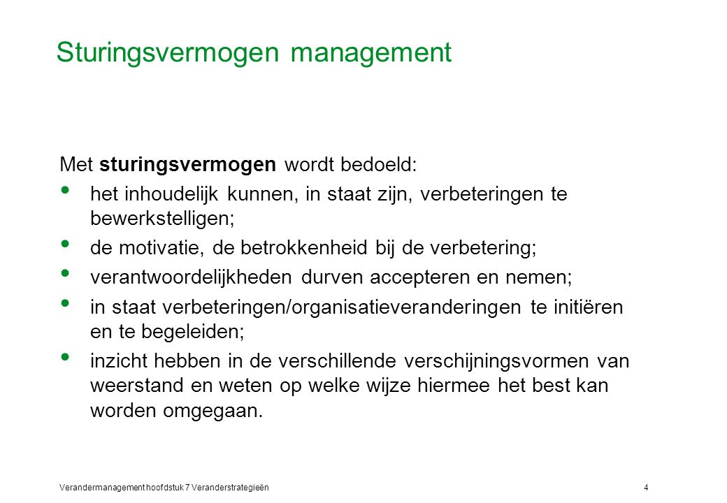 Sturingsvermogen management