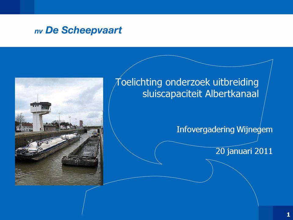 Toelichting onderzoek uitbreiding sluiscapaciteit Albertkanaal