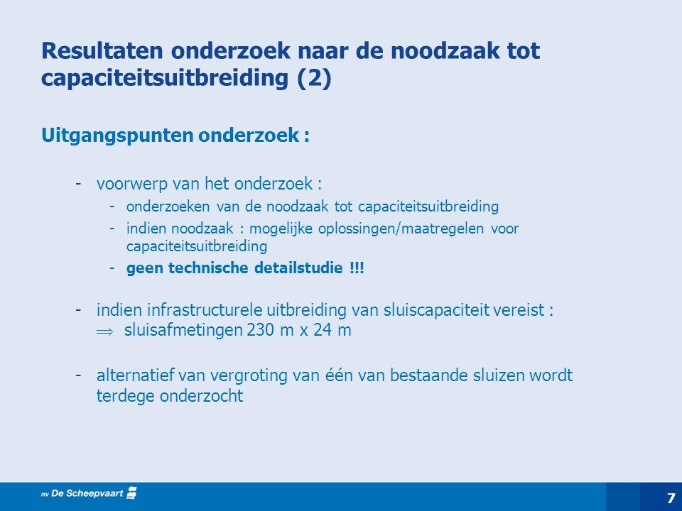Resultaten onderzoek naar de noodzaak tot capaciteitsuitbreiding (2)