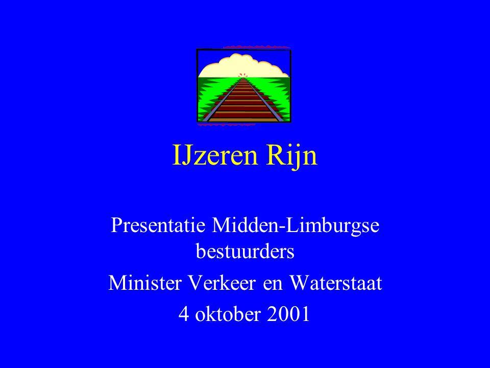 IJzeren Rijn Presentatie Midden-Limburgse bestuurders