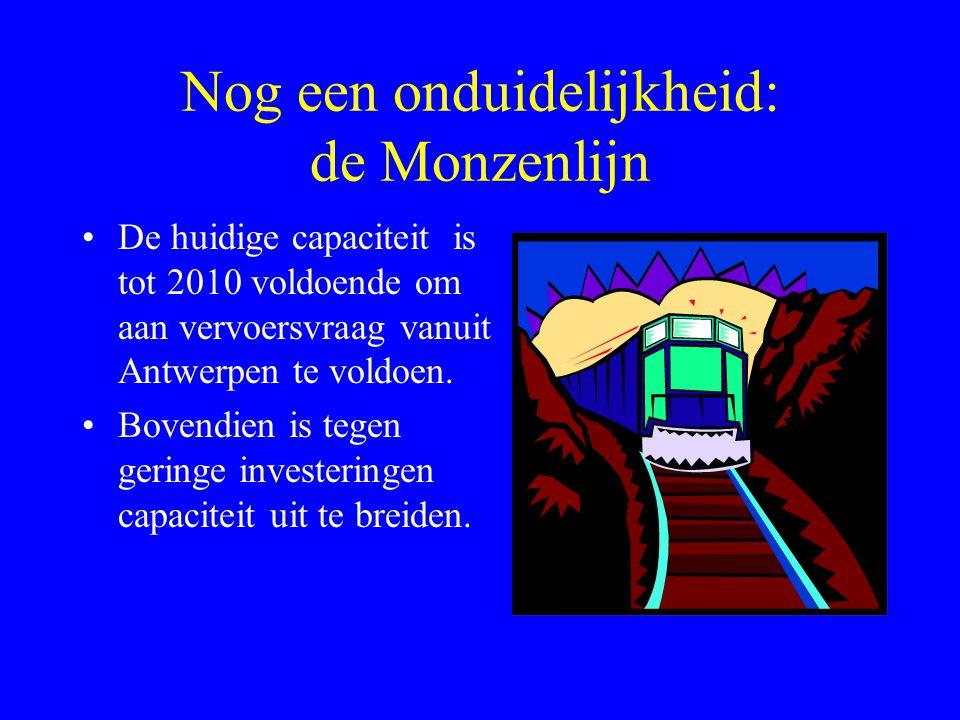 Nog een onduidelijkheid: de Monzenlijn