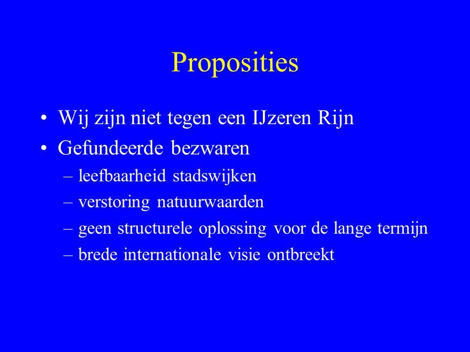 Proposities Wij zijn niet tegen een IJzeren Rijn Gefundeerde bezwaren