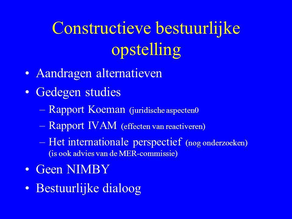 Constructieve bestuurlijke opstelling