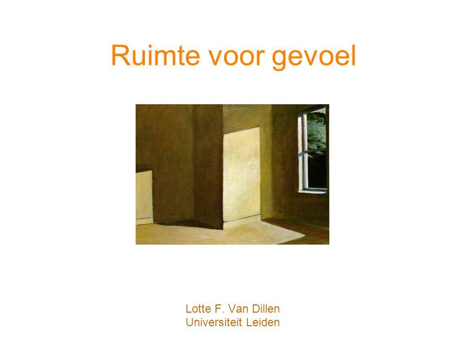 Lotte F. Van Dillen Universiteit Leiden