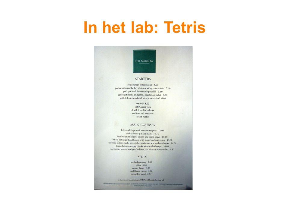 In het lab: Tetris