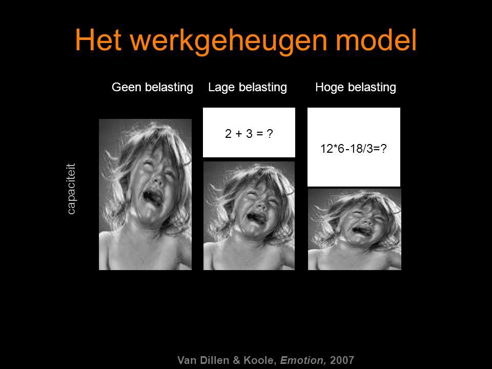 Het werkgeheugen model