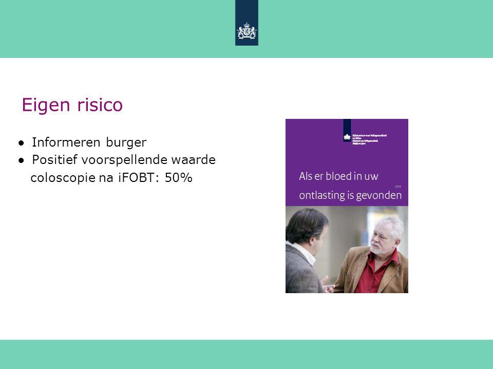 Eigen risico Informeren burger Positief voorspellende waarde