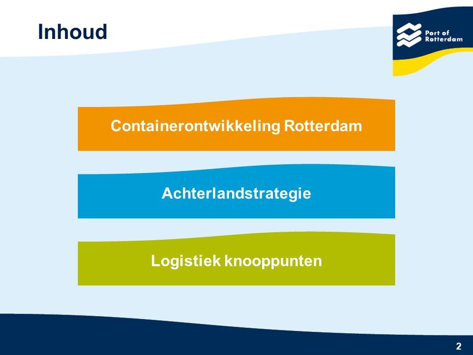 Containerontwikkeling Rotterdam Logistiek knooppunten