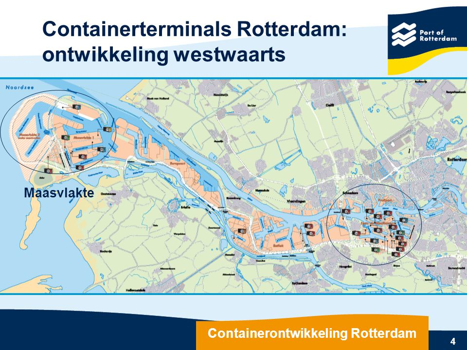 Containerontwikkeling Rotterdam
