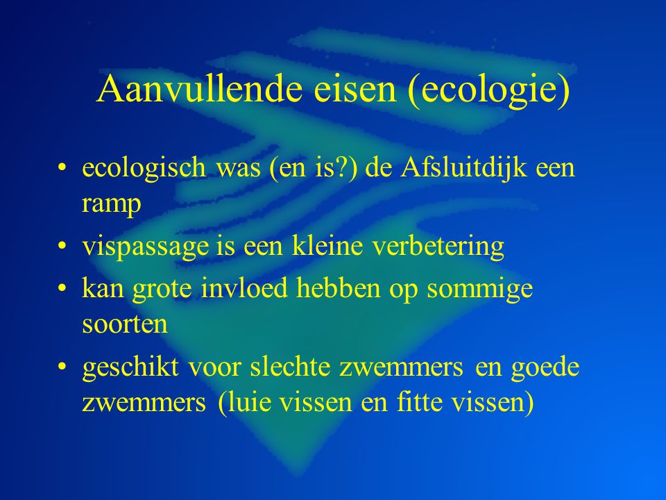Aanvullende eisen (ecologie)