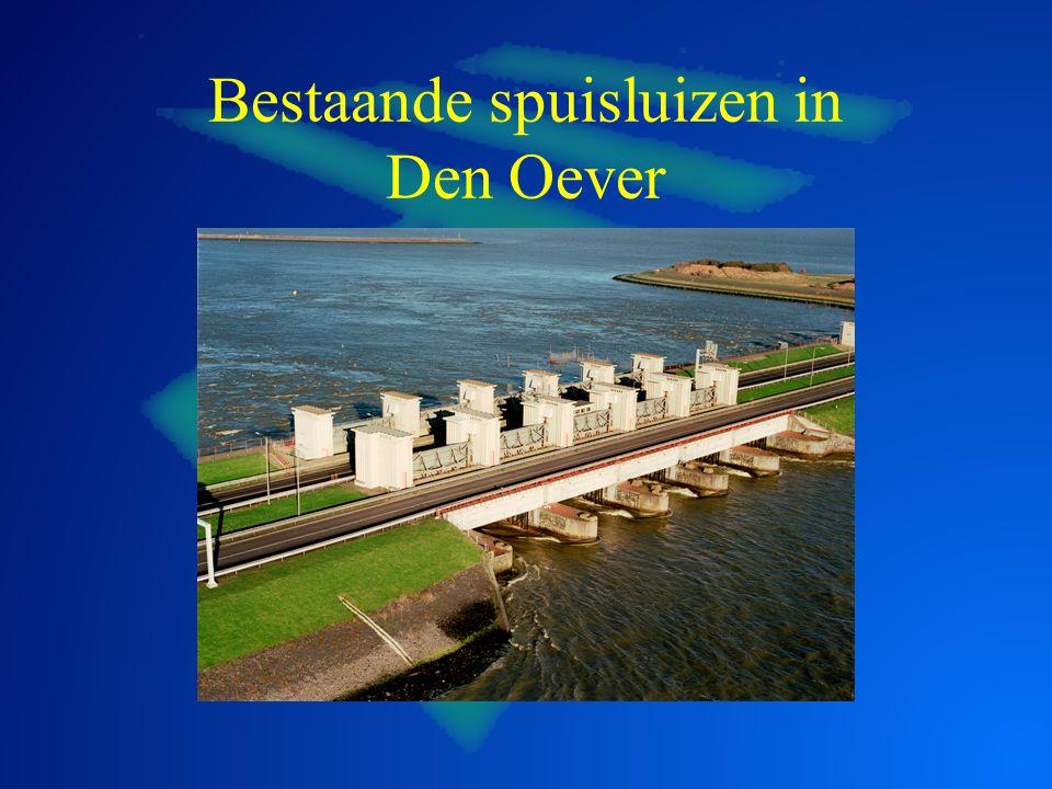 Bestaande spuisluizen in Den Oever