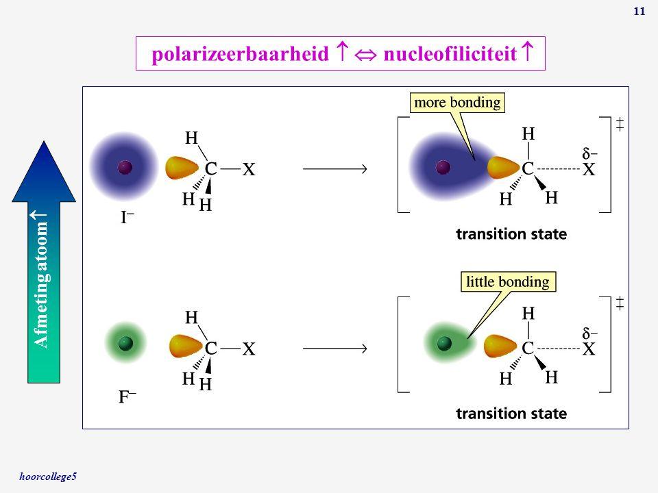 polarizeerbaarheid   nucleofiliciteit 