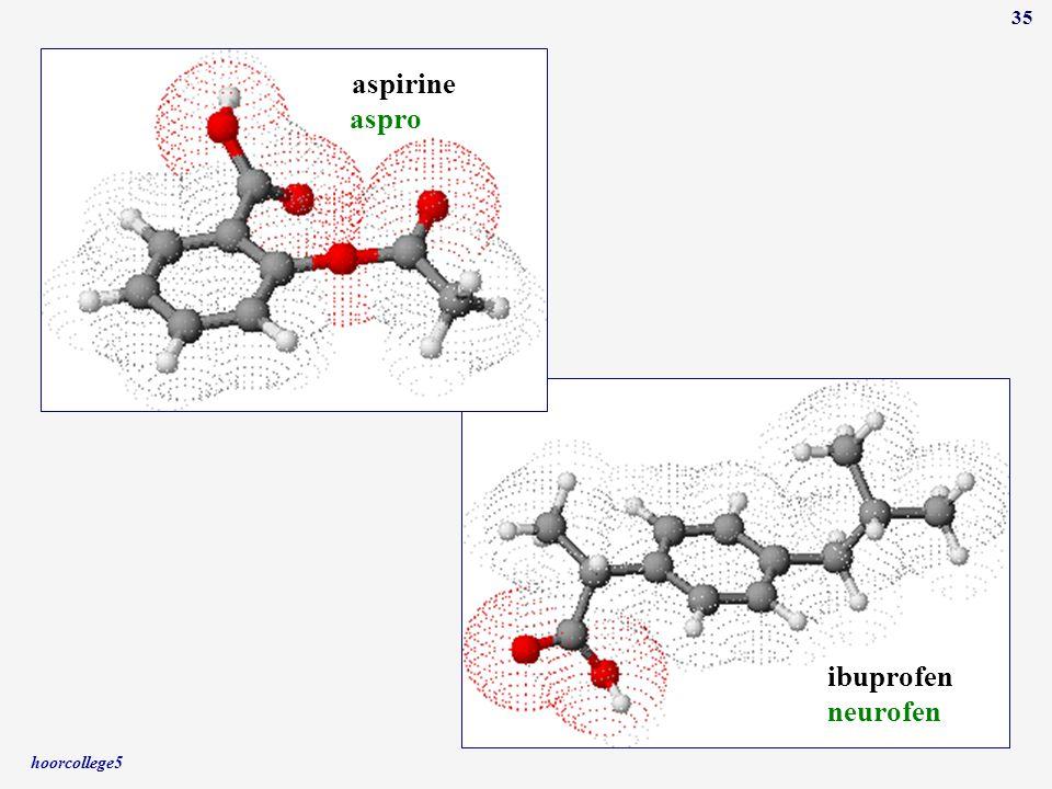 aspirine aspro ibuprofen neurofen hoorcollege5