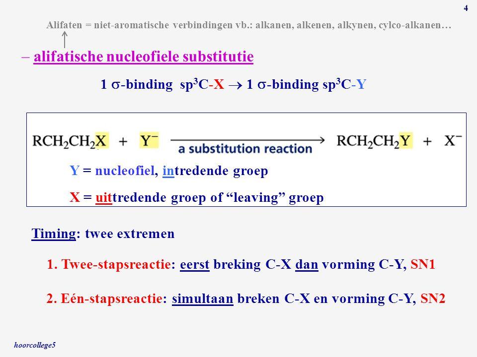 alifatische nucleofiele substitutie