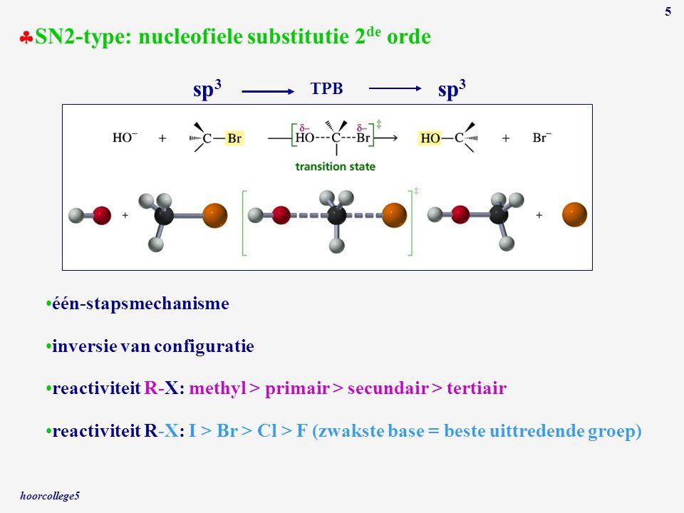 SN2-type: nucleofiele substitutie 2de orde