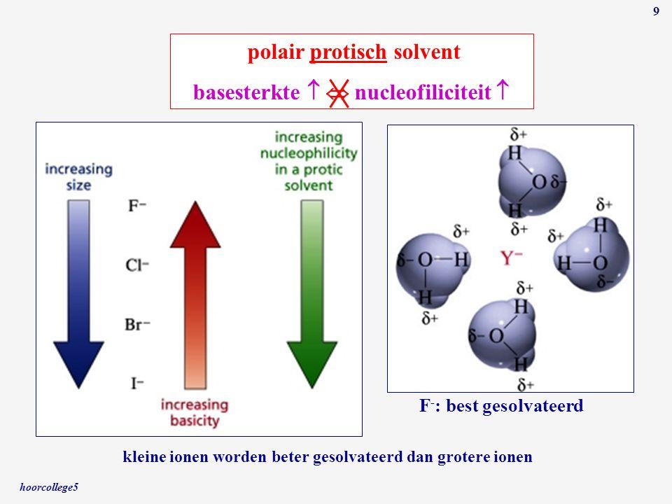polair protisch solvent basesterkte   nucleofiliciteit 